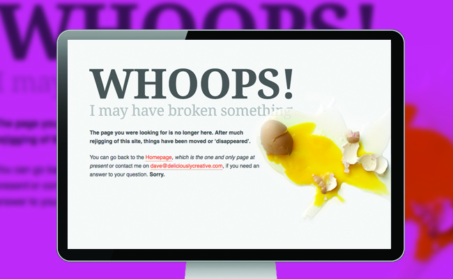 Customize a 404 Error Landing Page