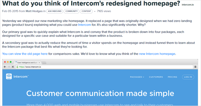 intercom inbound marketing